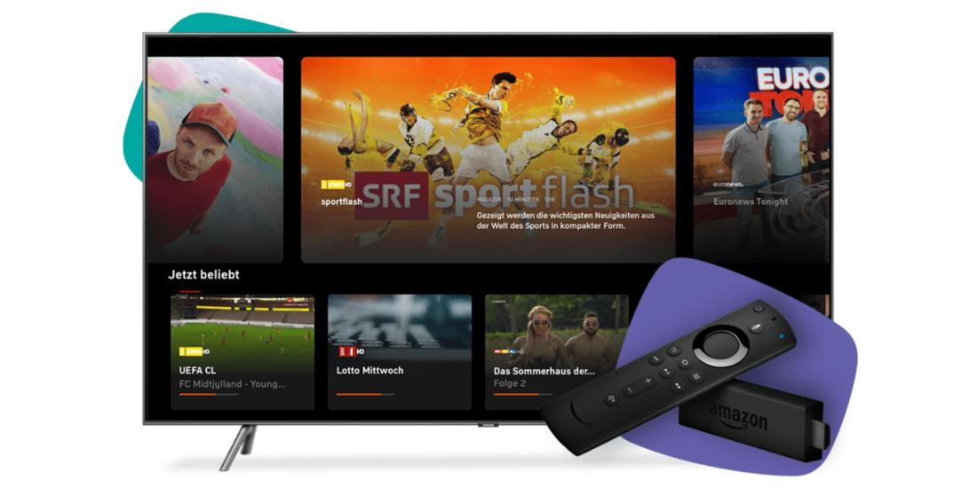 Zattoo gesellt sich zum Live TV-Angebot auf dem Fire TV Stick