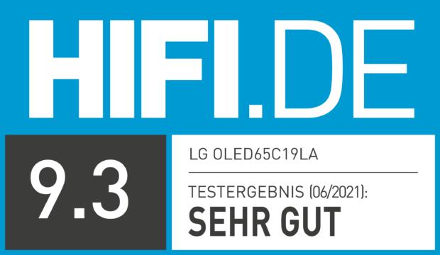 HIFI.DE Testsiegel für LG OLED C1