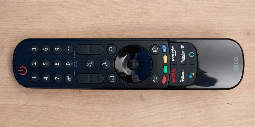 Die Magic Remote des LG OLED A1
