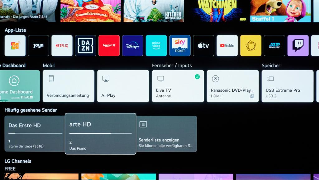 LG WebOS 6 beim LG NANO889
