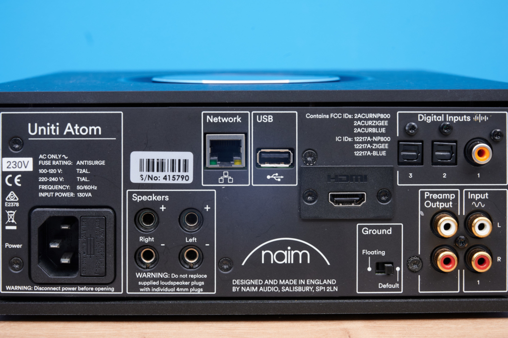 Naim Uniti Atom - LAN und USB