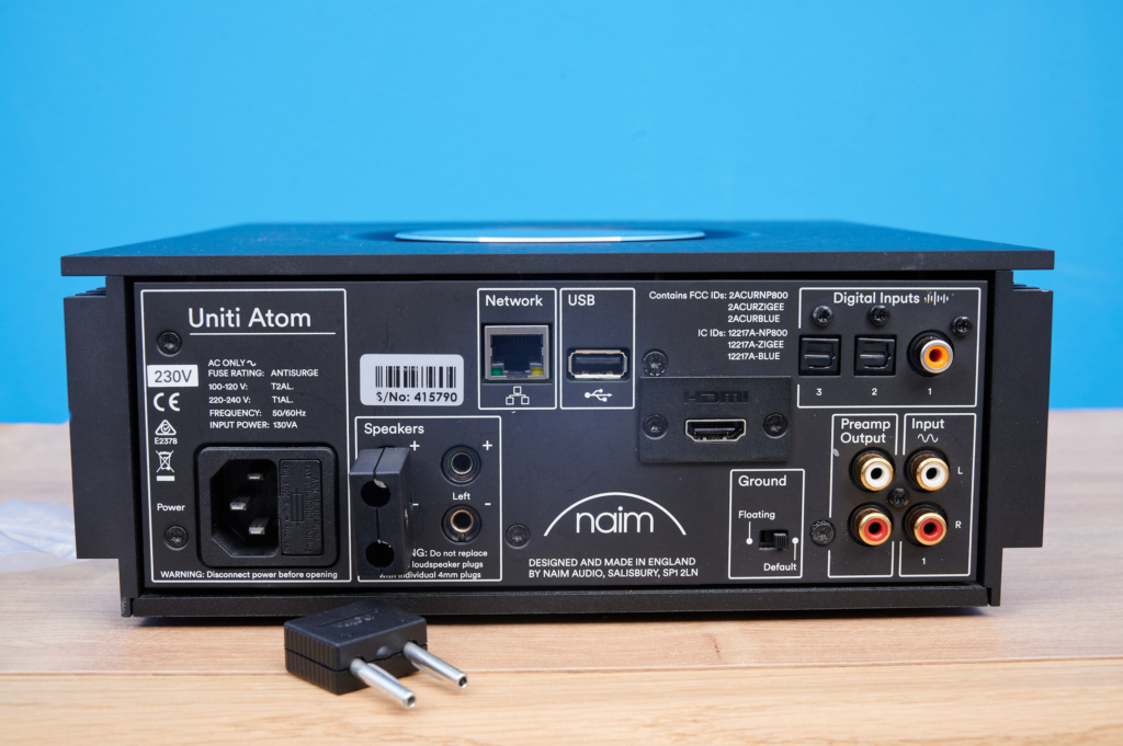 Naim Uniti Atom - Lautsprecheranschlüsse