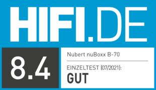 HIFI.DE Testsiegel für Nubert nuBoxx B-70 im Test – Besser als die alte nuBox?