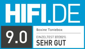 Testsiegel HIFI.DE Boxine Toniebox