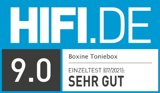 HIFI.DE Testsiegel für Toniebox