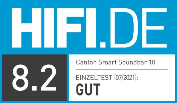 HIFI.DE Testsiegel für Canton Smart Soundbar 10