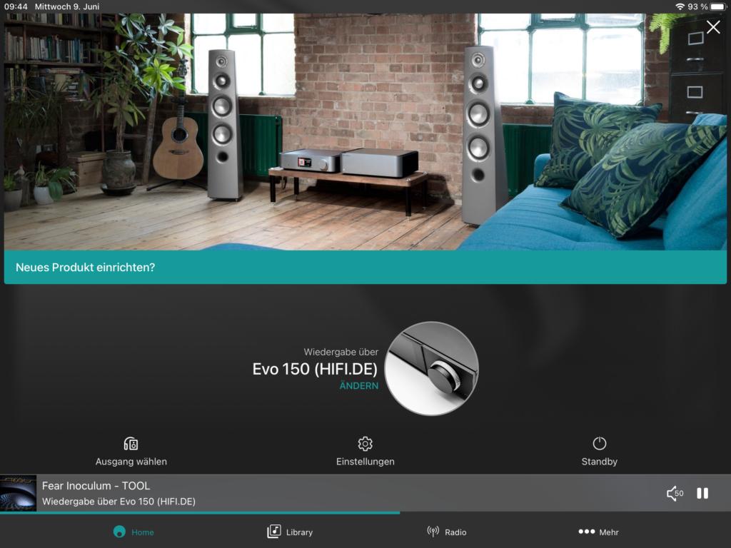 Cambridge Audio Evo 150 - StreamMagic App