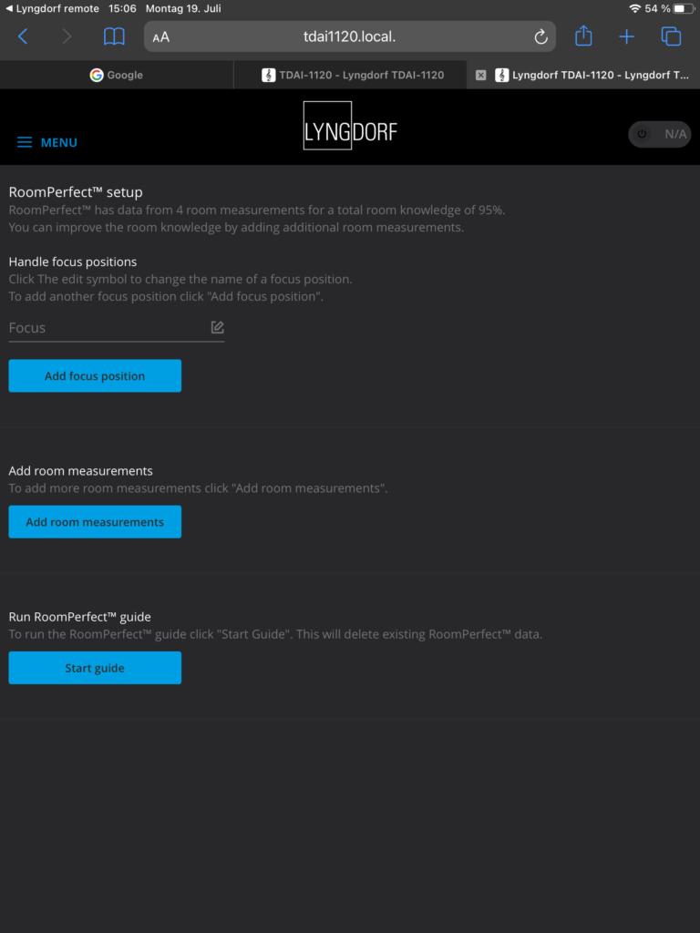 Lyngdorf TDAI-1120 – RoomPerfect