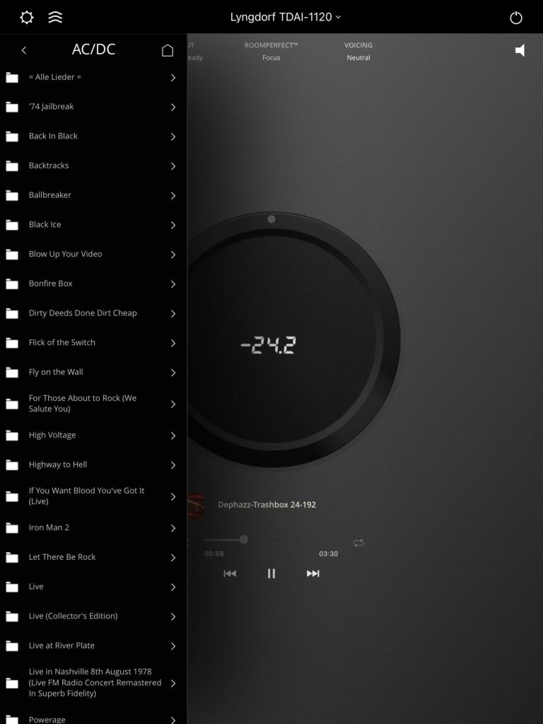 Lyngdorf TDAI-1120 - App