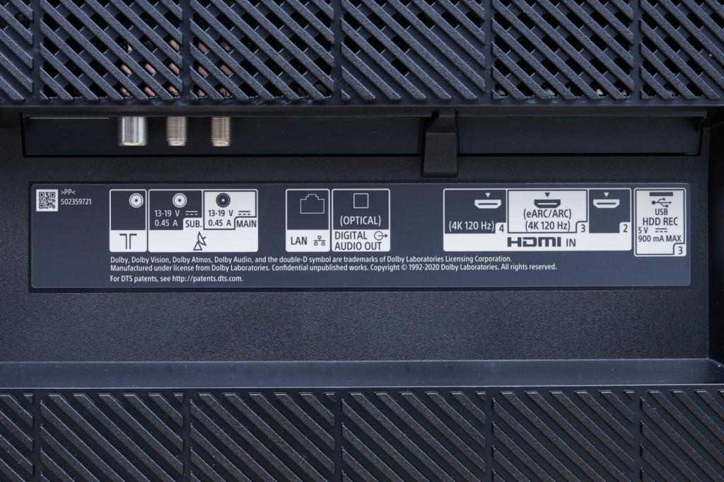 SONY A80J HDMI 2.1
