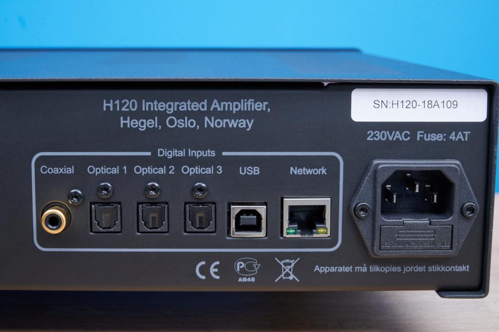 Streaming-Verstärker Hegel H120 - Digitale Inputs