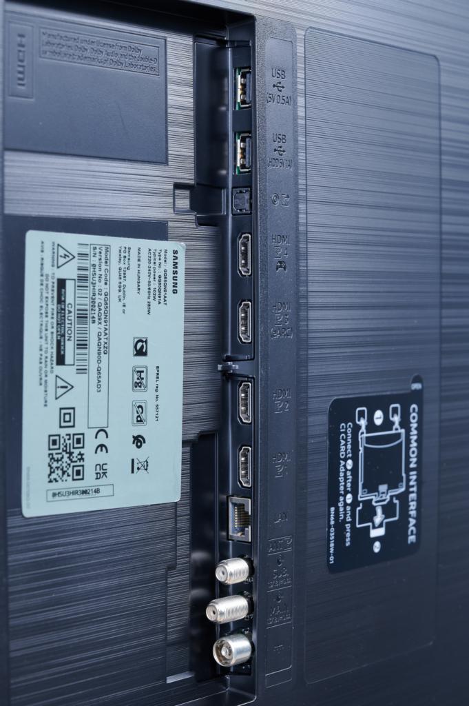 Die Anschlüsse des Samsung QN91A