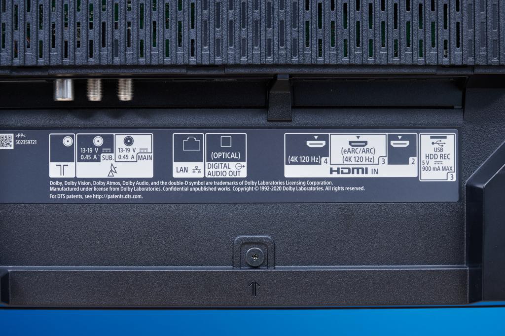 Sony A90J HDMI unten