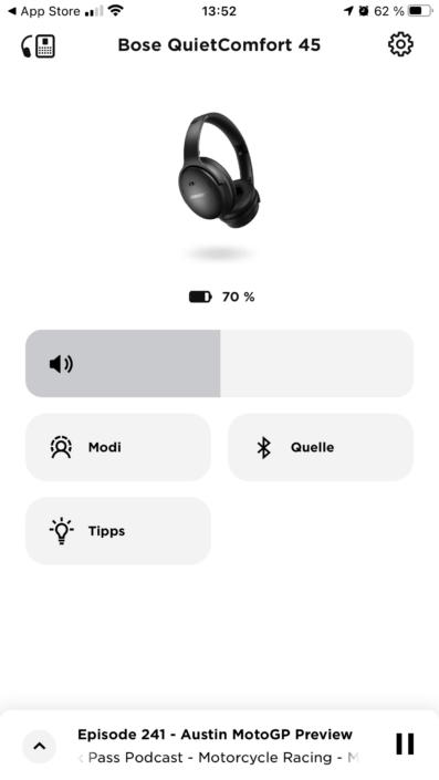 Bose QC45 - Bose Music App