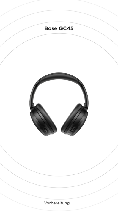 Bose QC45 - Verbindung über App