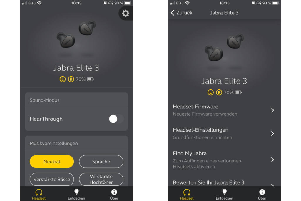 Jabra Elite 3 App