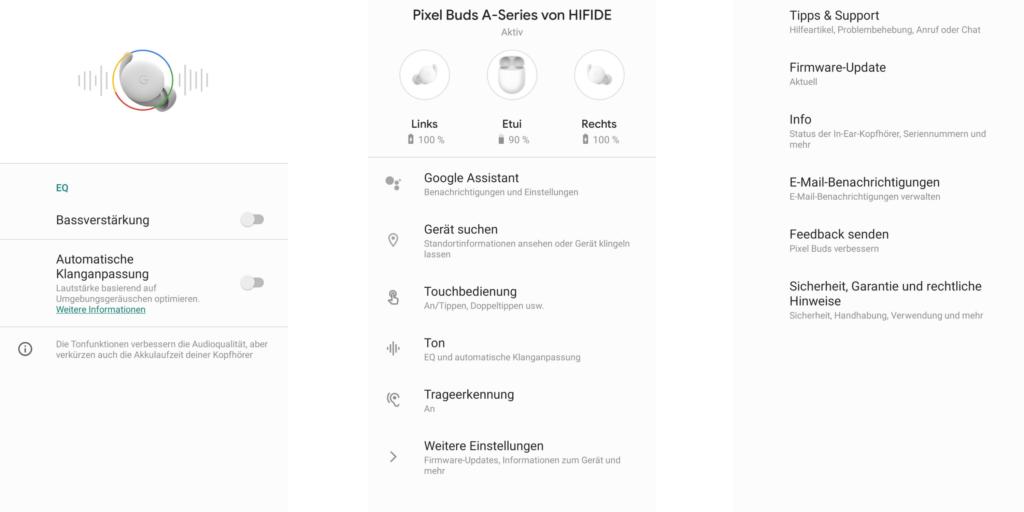 Google Pixel Buds A-Series Pixel App