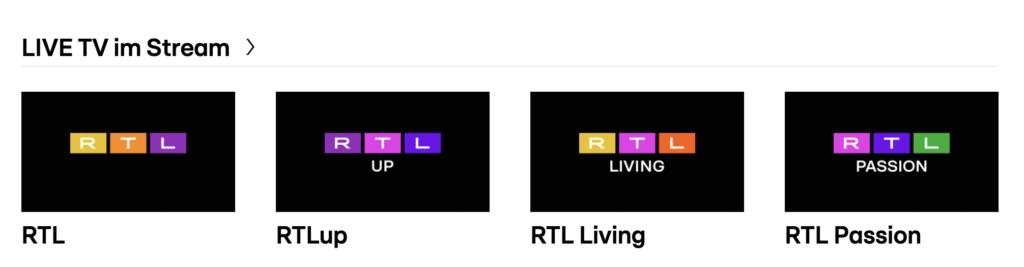 Die Sender von RTL im neuen Design