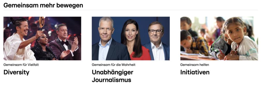 Journalistische Inhalte auf RTL.com