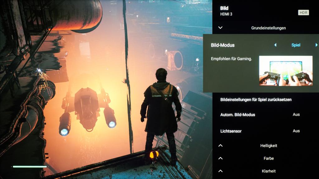 Bildmodus Spiel für SONY X95J