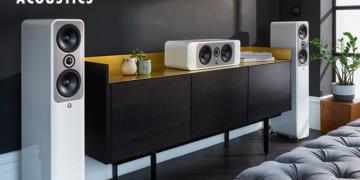 Q Acoustics Concept 30, 50 und 90 in Weiß