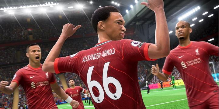 Jubelnde Spieler in FIFA 22 für Xbox Series S